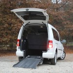 Silver Volkswagen Caddy from rear